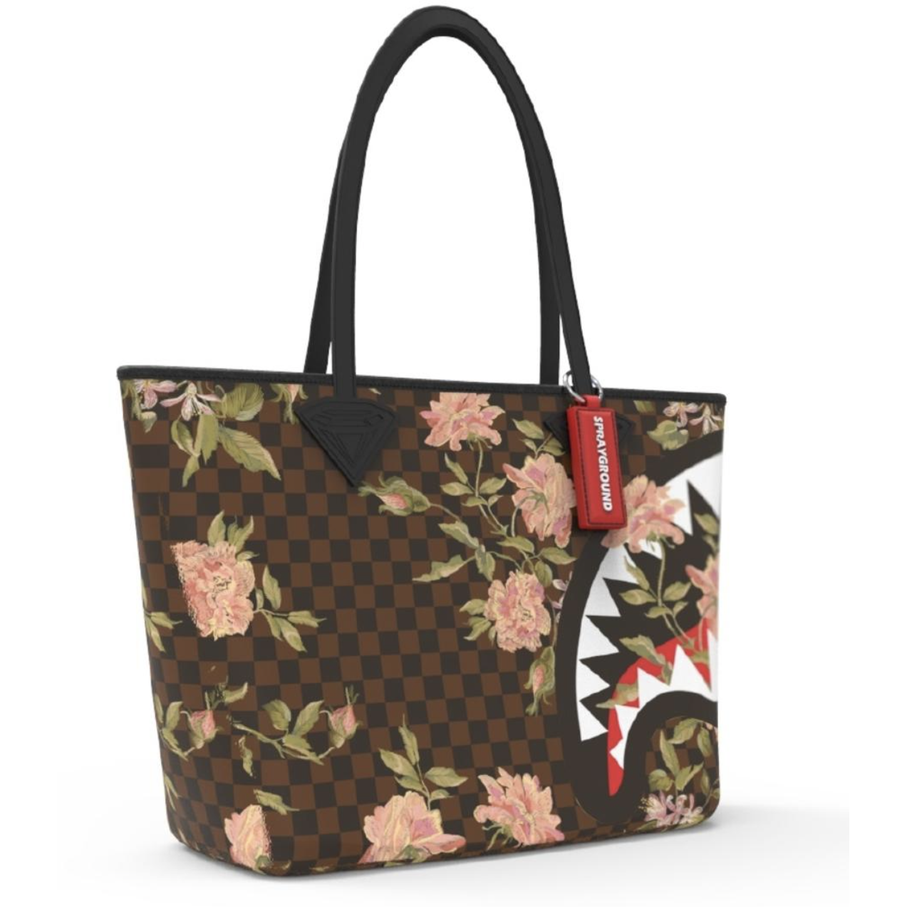 Sprayground Shark Flower Tote Bag