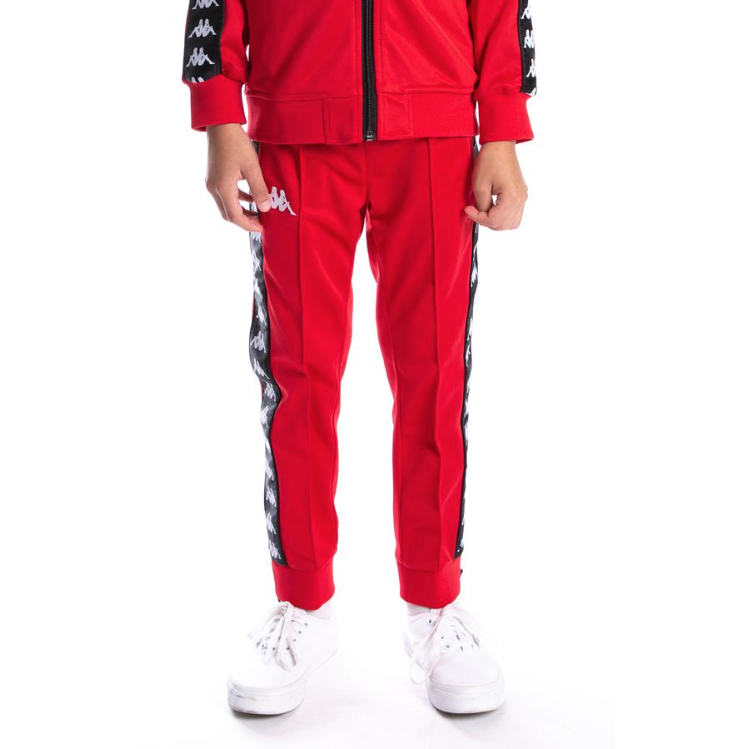 KIDS Kappa Red/Black 222 Banda Rastoriazz Track Pants (304KQW0Y-935)