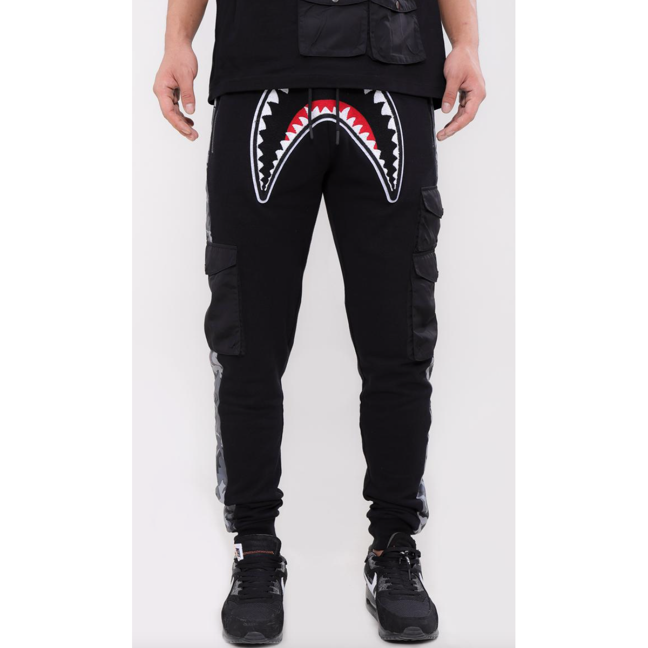 Hudson Utility Sharks Mouth Joggers Black (H4052931)