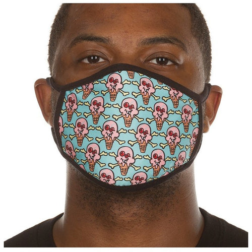 ICE CREAM SHAKING MASK PASTEL TURQUOISE