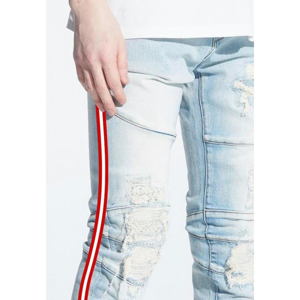 Crysp Denim Montana Blue Jeans w/Red/White Stripes (CRYSPHOL20-131)