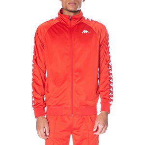 Kappa Red/White 222 Banda Anniston Track Jacket In Stock