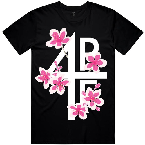 4PF Flower Black Tee