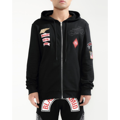 Black Pyramid Moto Club Black Hoodie (Y5162115-BLK)