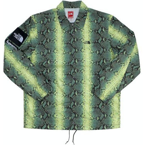 Supreme The North Face Snakeskin Taped Seam Coaches Jacket - Green