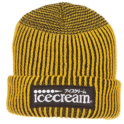 Ice Cream Dipped Knit Black Beanie (401-9804)
