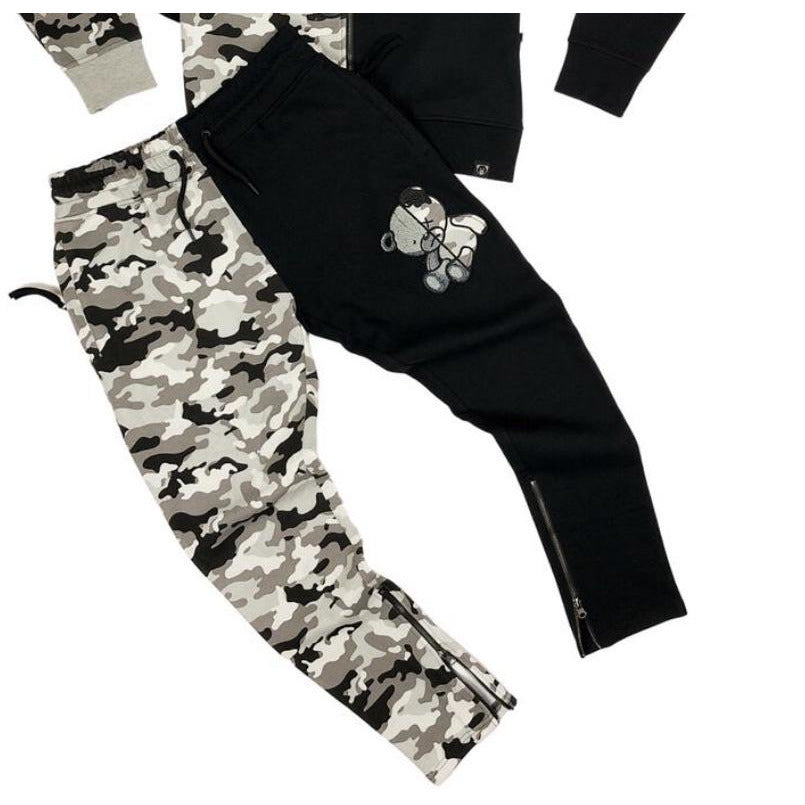Civilized Teddy Bear Black Camo Joggers ONLY