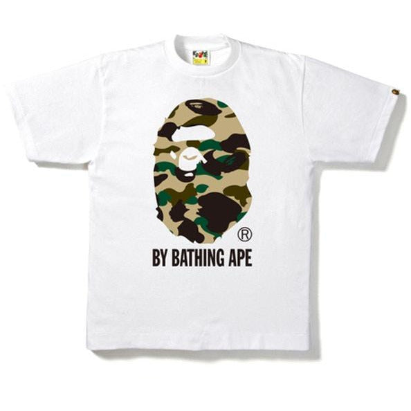 BAPE 1st Camo By Bathing Tee - White/ Yellow Camo