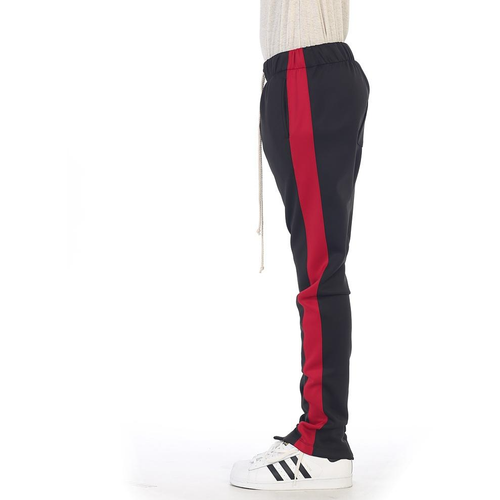 EPTM Black Track Pants w/Red Stripe