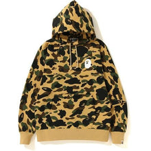 Load image into Gallery viewer, BAPE 1st Camo Logo Pullover Hoodie - Yellow  Camo