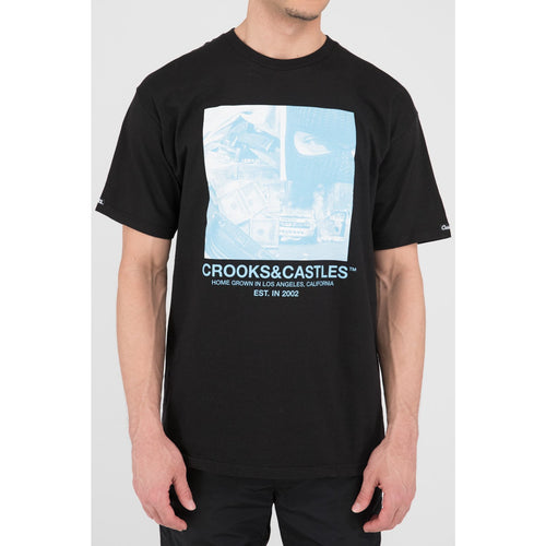 Crooks & Castles Home Grown Tee Black
