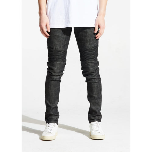 Embellish ZAK Charcoal Biker Denim