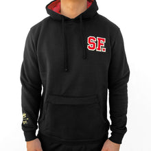 Load image into Gallery viewer, SAVS Gold Blooded Embroidered Black Hoodie