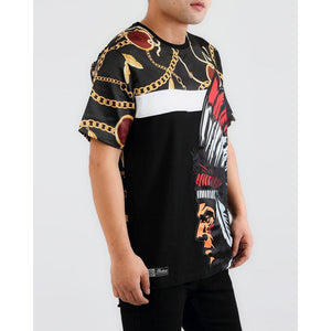 Hudson Chief Gold Feather Black Tee