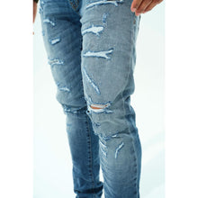 Load image into Gallery viewer, Jordan Craig Mid Blue Denim Jeans w/Tears (JM3383)