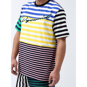 Black Pyramid Script Striped Shirt
