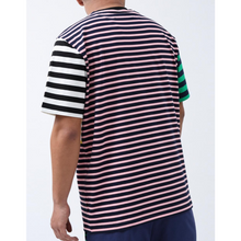 Load image into Gallery viewer, Black Pyramid Script Striped Shirt