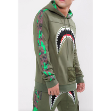 Load image into Gallery viewer, Hudson Utility Sharks Mouth Hoodie Olive Green (H5052929)