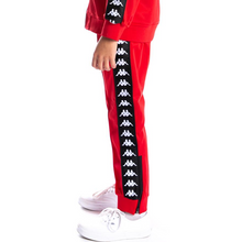 Load image into Gallery viewer, KIDS Kappa Red/Black 222 Banda Rastoriazz Track Pants (304KQW0Y-935)