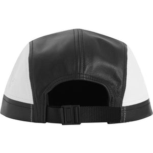 Supreme 2-Tone Leather Camp Cap - Black