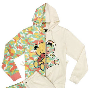 Civilized Teddy Bear Natural Camo Zip Up Hoodie ONLY