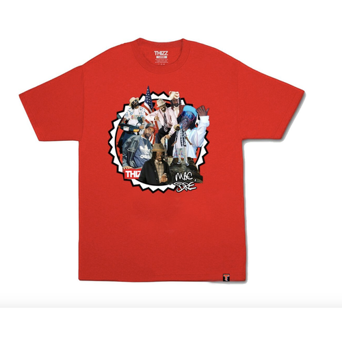 Thizz Nation Mac Dre COLLAGE Tee in Red