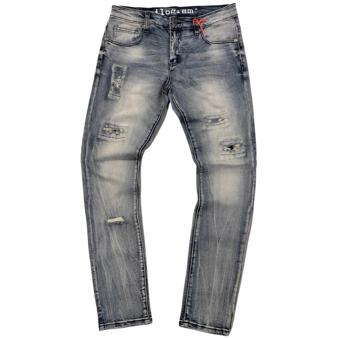 Kilogram Light Blue Rip & Repair Denim Jeans (KG10013)