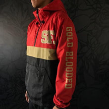 Load image into Gallery viewer, SAVS Gold Blooded Chiefs Anorak Red/Black Jacket