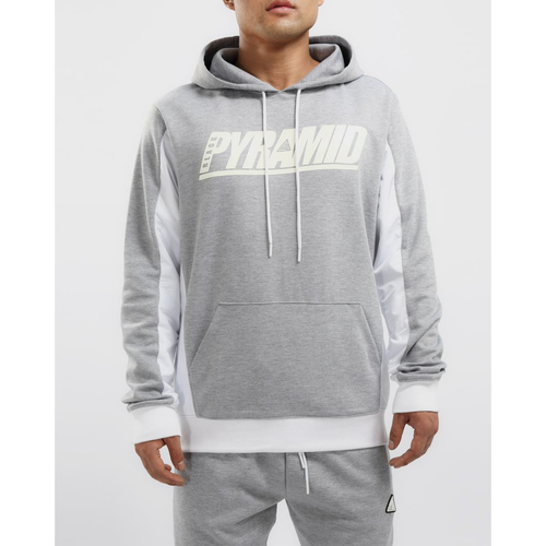 Black Pyramid Flight Inset Grey Hoodie (Y5162085-GRY)