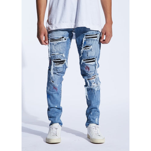 Embellish Blue Anderson Rip & Repair Jeans
