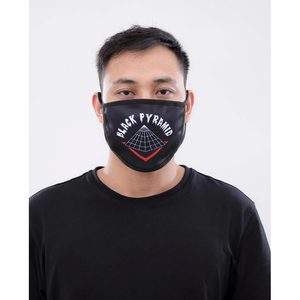 Black Pyramid Full Drip Face Mask Black