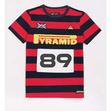 Load image into Gallery viewer, BP KIDS Red Game Stripe Tee