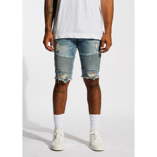 Embellish Light Blue Winslow Biker Shorts