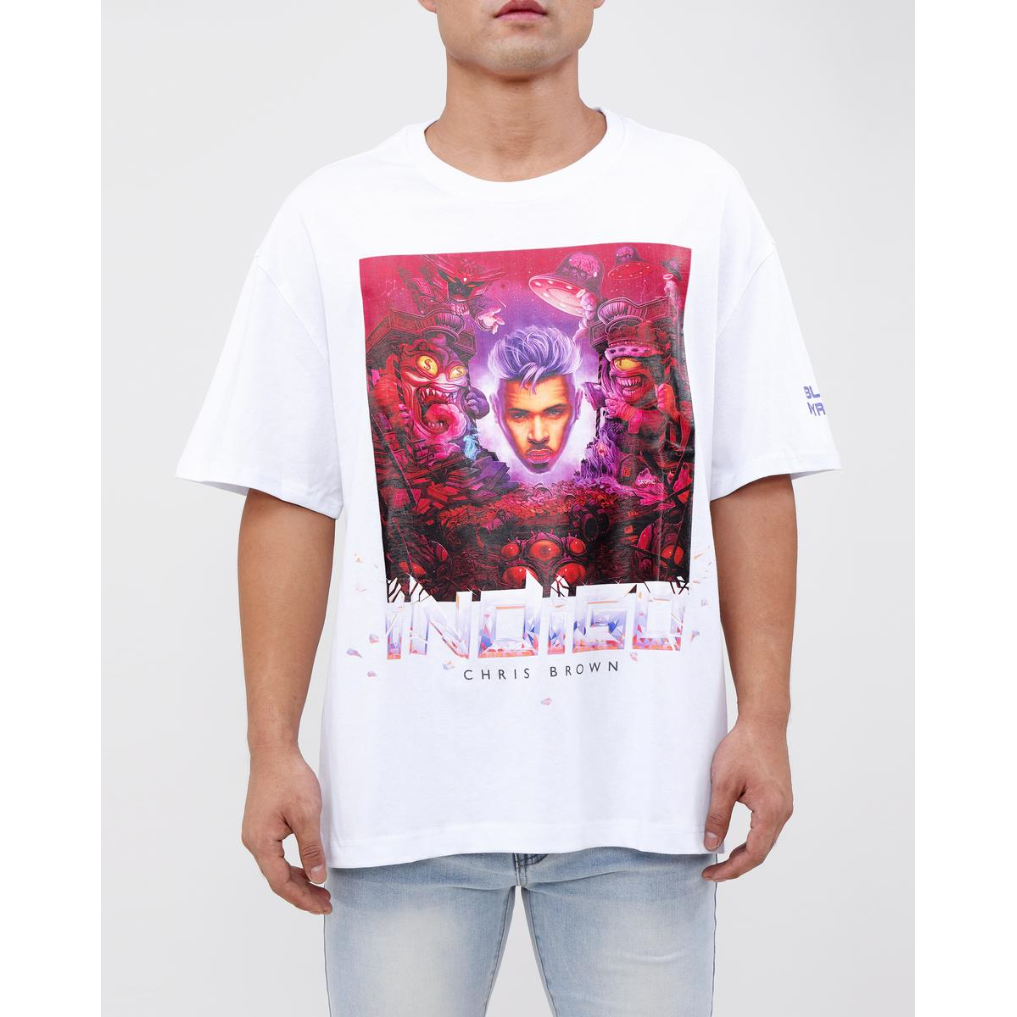 Black Pyramid Indigo Album White Tee