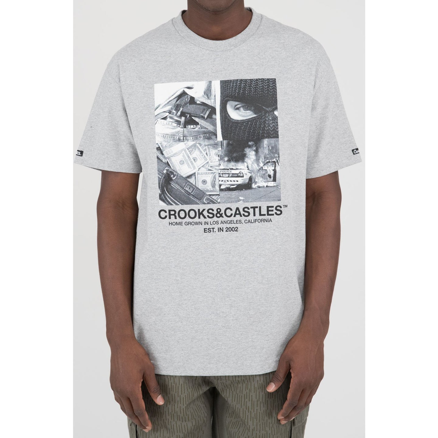 Crooks & Castles Home Grown Tee Heather Grey