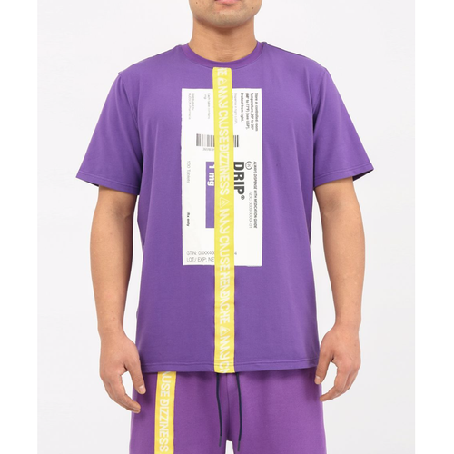 Hudson Prescription Drip Purple Tee