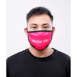 "Hudson ""Mask On"" Face Mask in Pin k"