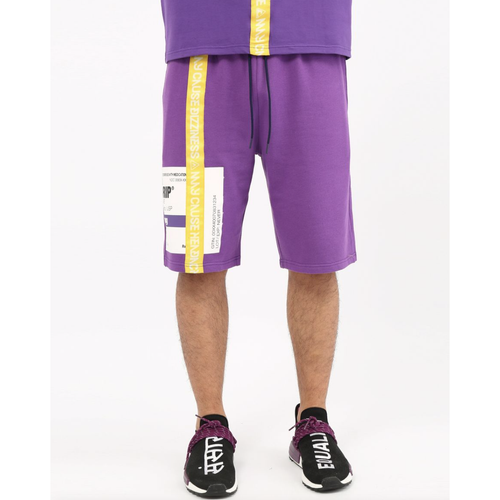 Hudson Prescription Drip Purple Shorts