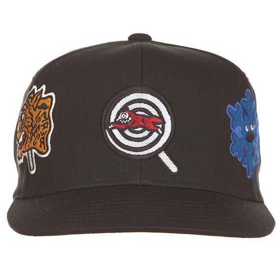 Ice Cream Patches Black Snapback Hat (401-8805)