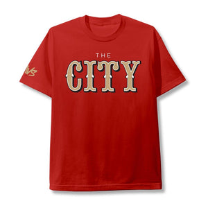 "SAVS ""THE CITY"" TEE IN Red"