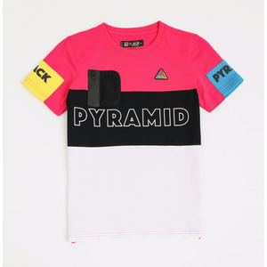 Black Pyramid KIDS Pink Blocks Tee