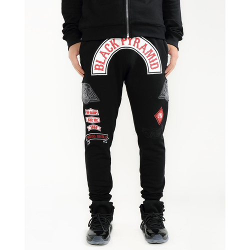 Black Pyramid Moto Club Black Joggers (Y4162114-BLK)