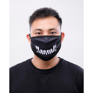 Black Pyramid Monster Bite Face Mask Black