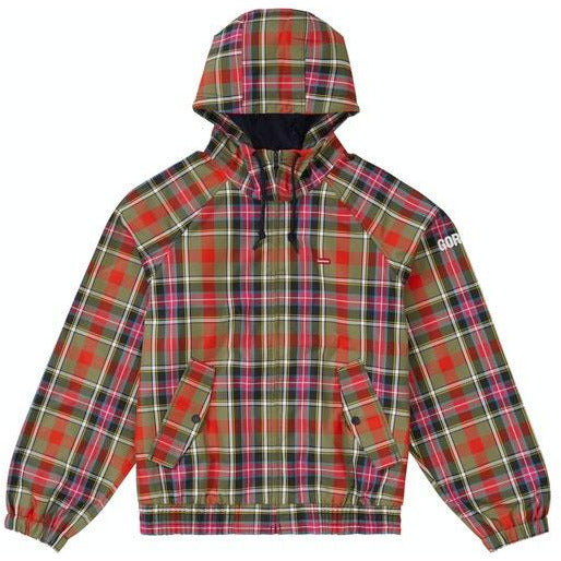 Supreme GORE-TEX Hooded Harrington Jacket - Olive Plaid