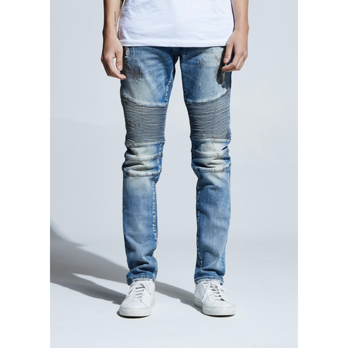 Embellish Blue Jennings Biker Denim Jeans