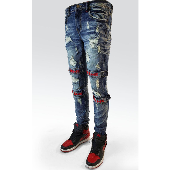 PREME Indigo Denim with Red Strap  (PR-WB-454)