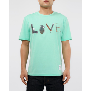 "Hudson ""Weapons Or Love"" Green Tee (H1052838-GRN)"