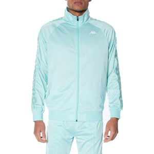 Kappa Green Aqua-White 222 Banda Anniston Track Jacket (3502050-F74)