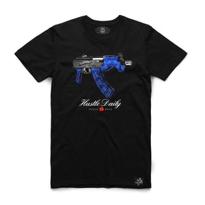 "Hasta Muerte ""Blue Married Draco"" Black Tee"