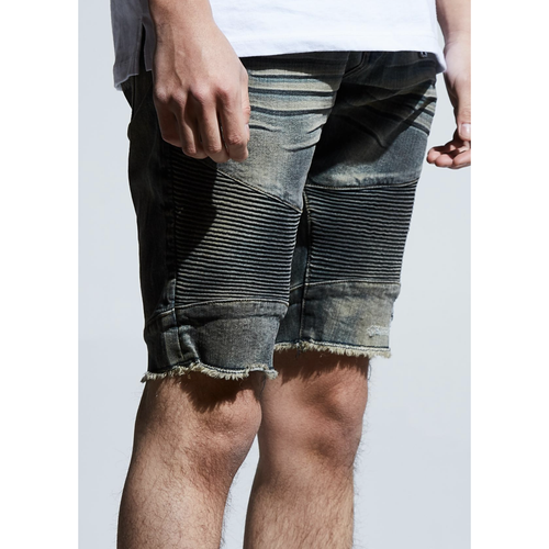 Embellish Hilton Biker Denim Shorts (EMBSU219-127)